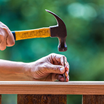 Cash Out Your Home Equity, shows hammer to represent a constructive process